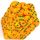 Yellow & Orange 'Lotus' Speckled 12mm D6 Dice Block